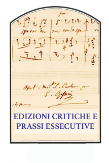 Edizioni critiche e prassi essecutive